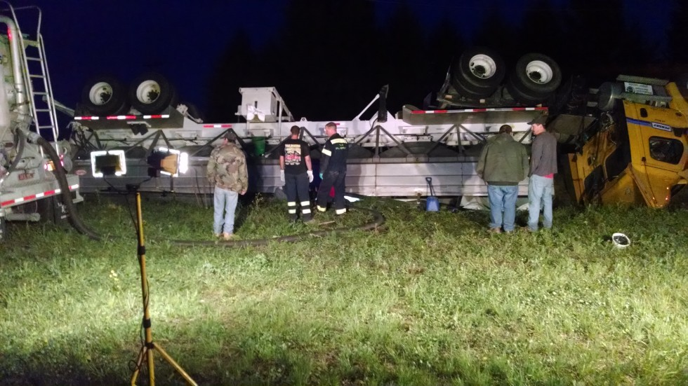 Tractor Trailer Rolled Over May 19th R S Maher Amp Son Inc