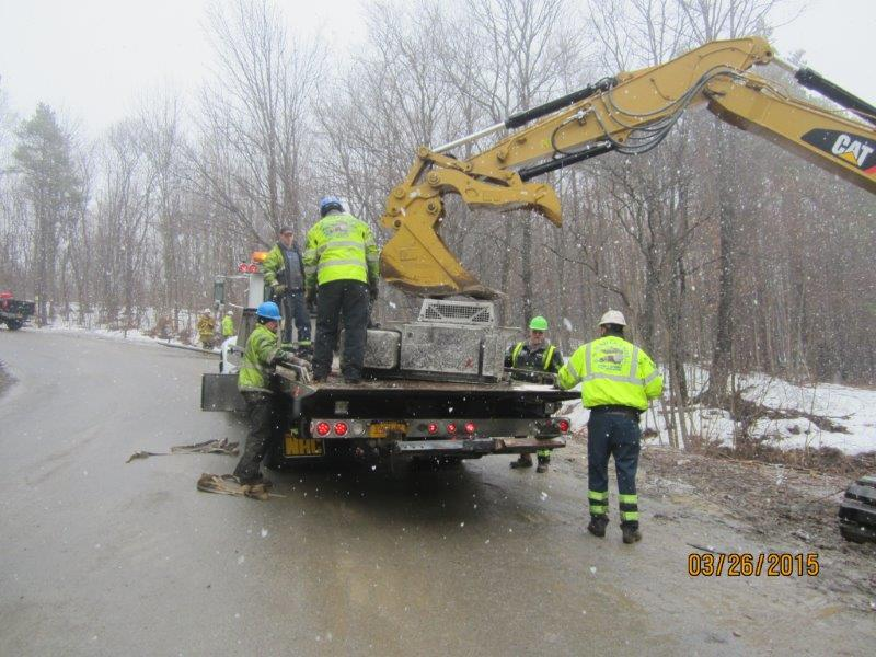 Tractor Trailer Rollover In Warsaw Ny On March 26th R S